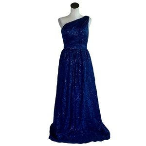 NWT Carmen Marc Valvo Infusion  Floral Sequin Gown